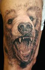 3d tatto bear