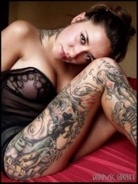 Sexy model full body tattoo hot lady non nude lingerie pictures