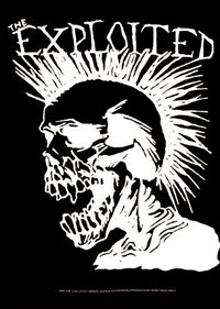 The exploited  punk skull